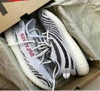 achat en gros de zèbre crochet-(Avec Boîte) Boost 350 V2 Kanye Saison 3 SPLY-350 CP9654 Boost 350 V2 Zebra Athletic Chaussures Running Sneaker