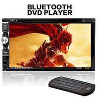 al por mayor dvd vcd control remoto-F6063B 7 pulgadas de pantalla táctil HD 2-DIN coche en la rociada FM receptor de radio Bluetooth DVD reproductor de CD con control remoto inalámbrico CMO_206