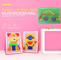 Wholesale Puzzle diy suit Mushroom Nail Puzzle Toy Child Patching Qiao Qiao Nail Pole Combination Creative Building Blocks