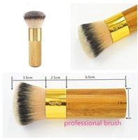 best buffer brush - best Christmas gift Tarte the buffer airbrush finish bamboo foundation brush High Quality Makeup Brushes wedding makeup tool