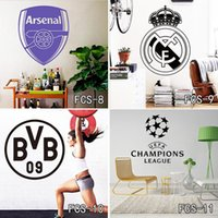 Graphic vinyl art logo designs - Football World Cup Logo Art Poster Mural Football Club Home Decor Mark Flag Soccer Sign Vinyl Decal Removable Wall Stickers Free