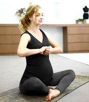 Wholesale Pregnant women yoga clothes sportswear women s loose tops high elastic movement legs legs pants suit