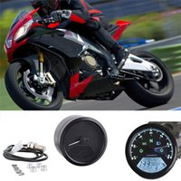 Wholesale Universal RPM KMH MPH Motorcycle Odometer Speedometer Tachometer Motorcycle for your boy friend s gift