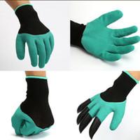 Правые и левые садовые джинсовые перчатки с кончиками пальцев, унисекс с правыми когтями, быстро и легко выкапывать и безопасно для растений под обрезку розы ELH019