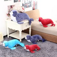 aquarium seal - new plush toys aquarium for seal hold pillow doll dolphins and sea lions for baby best gift