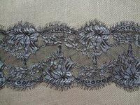 Wholesale Lace Fabric Trims Polyester Jacquard Home Textiles Edging Sewing Garden Decoration Clothing Apparel Accoressies Decor BLACK SILVER x150cm