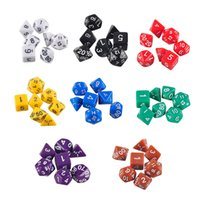 Wholesale New Arrive Set Resin Polyhedral TRPG Games For Dungeons Dragons Opaque D4 D20 Multi Sides Dice Pop for Game Gaming