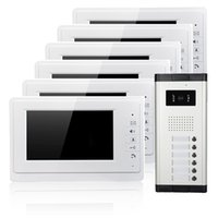 apartment phone - wired Apartments video door phone inch screen and ABS plastic video doorbell for apartments