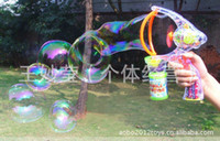 Wholesale blowing bubbles Electric music bubble machine Blow a bubble toys with bottle of water soap bubbles