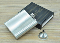 Wholesale 6oz Hip Flask Drink Bottle Liquor Whisky Alcohol Portable Stainless Steel Screw Cap with Without Funnel OOA642