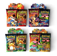 Wholesale 2017 new English Edition Poke mon go XY evolutions cards Trading toy carte Poke go Figures Game Gift For Kids free DHL