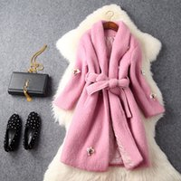 bee cloth - Europe and the United States women s new winter nail bead sequins bee cloth coat teamed with cultivate one s morality
