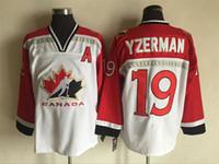 Men al games - Cheap Olympic Games Ice Hockey Jerseys Al Macinnis Wayne Gretzky Sidney Crosby Jarome Iginla White Red Throwback Jerseys