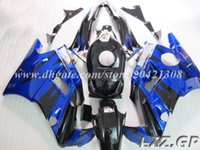 Carenados de alta calidad para Honda CBR 600 F2 91-94 CBR600 F2 1991-1994 1992 1993 CBR600 F2 91 92 93 94 # 2e891 negro azul