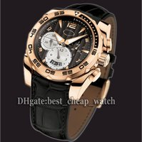 al por mayor reloj cronógrafo barato-Super Clone Marca Reloj Nuevo Pershing PF602473.01 PFC528-1010101-HA1442 Reloj De Cuarzo De Cronógrafo Reloj Negro Reloj De Cuero Correa Relojes baratos