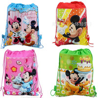 beam office - Animation image Foreign sided printing beam port non woven Drawstring bags gift bags for children Pencil bags