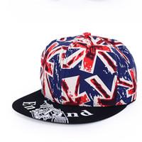 baseball caps uk - Fashion Snapback Caps UK Flag Print Baseball Caps Hip Pop Casquette Gorras Planas Hat Casquet bone Masculinote Polo Hats For Men