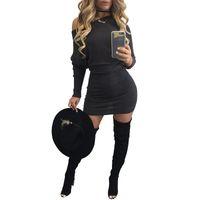 Plus de taille XL robe noire nouvelle robe de mode à manches longues Club Wear Patchwork femmes sexy célébrité bandage robes Clubwear
