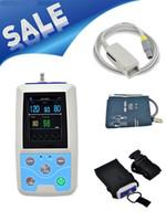 Wholesale PM50 TFT Portable hours USB Ambulatory Automatic Blood Pressure Oxygen NIBP PR SPO2 Patient Monitor digital BP Test Meter DHL