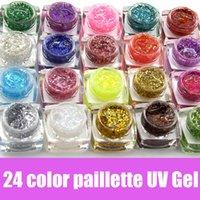 Wholesale color ml Long Lasting UV Gel Sequins Glitter Shiny Gel Nail Polish Charming Acrylic Nail Gel Polish