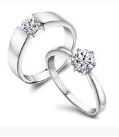 Wholesale New Real Sterling Silver Ring for Women Silver Wedding Engagement Jewelry N62