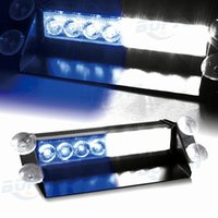 1000lm 24 6000K DC12V 8 Led Car Police Strobe Flash Light Dash Emergency Warning 3 Flashing Lamp Blue White Daytime Running Lights