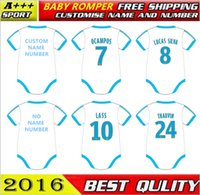 baby clothes football - baby survetement football cotton classic soccer baby suit baby oneise clothing Lass Olympique de Marseille for M free shippment