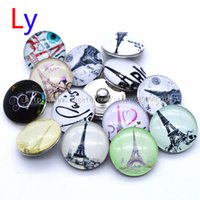 american flag suppliers - newest Eiffel Tower snap button jewelry charm popper for bracelet noosa jewelry making supplier For Valentine s day NR0153