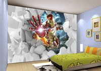 Wholesale Photo any size cartoon wallpaper fashion decor home decoration for bedroom living room d wall murals wallpaper