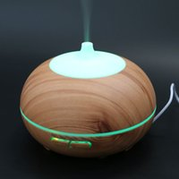 al por mayor establecer temporizadores de luz-Tuansing 300ML Difusor de aceite esencial de madera Humidificador de aromaterapia Aroma Mist Nebulizer 3 Modelos 7 Color Light AC. Ajuste del temporizador