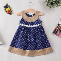 autumn sun skirt - Winter Girl s Dresses Baby Kids Clothing Sun flower dot child vest skirt girl princess dress