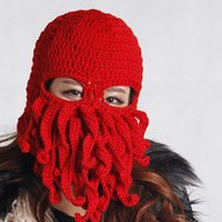 Wholesale The new pure manual weaving octopus wool hat manufacturers selling foreign trade products are popular all over the world