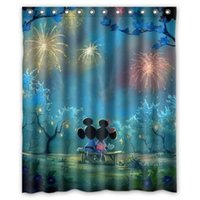New Classical/Post-modern bathroom collections - Bathroom Collection Custom Cartoon Mickey Mouse Art x180cm Waterproof Decorative Shower Curtain x180cm With Hook