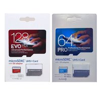64gb pro clase Baratos-EVO PLUS PRO 256 GB 128 GB 64 GB 32GB Class 10 TF Tarjeta SDHC MicroSDXC Tarjeta con adaptador SD Blister Paquete minorista