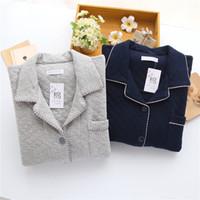 Wholesale 2016 New Men s Sleepwear Cotton Long Sleeve Pajamas and Loungewear Pajamas the Air Layer Pajamas Comfortable Pajamas