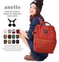 Wholesale Anello Original Backpack Rucksack Unisex Canvas Quality School Bag Campus