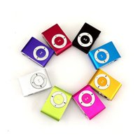Wholesale 4 ts Metal Clip Card MP3 Player No Screen Compact Mini Walkman Sports Iron Clips Player Lovely Delicate Colorful