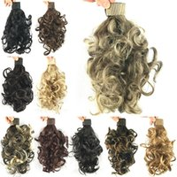 band curl - Colors Wavy Curl Ponytails Synthetic Hair Ponytail Hair Band Hair Extensions Little Pony Tail