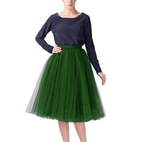 Wholesale Cheap Tea Length Bridesmaid Dressed - Cheap Hot Sale Colorful Tulle Bridesmaid Dresses 50s Vintage Tulle Petticoat Tutu Skirt Bridal Petticoat Underskirt Prom Evening Wedding