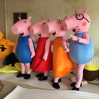 apparel canvas - new pink Pig Family mascot costumes performance props apparel halloween outfit dress Adult Size for Kids