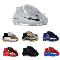 Wholesale 2017 The New Many Colors Mercurial Superfly Cr7 V Soccer Shoes C Ronaldo Wholasale Mens Football Boots Cleat Soccer Shoe Dhl