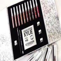 Wholesale 2016 Newest kylie Holiday Edition Big Box Set Lipstick Eyeshadow Eyeliner Set Kylie jenner Christmas gift