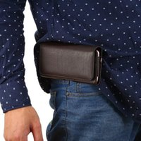 Leather belt pouch holster - Luxury Universal Holster Belt Clip Waist Man Flip PU Leather Cover Bag Phone Case For iPhone S Plus Samsung Galaxy S7