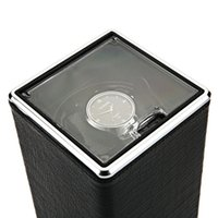 automatic watches winder - Automatic Rotation Watch Winder Display Box Transparent Cover Jewelry Storage Organizer US Plug Caixa De Relogios Watches Winder