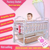 Wholesale Electric Baby Cradle Baby Bed Plus Size Newborn Cradle Smart BB Baby Shook His Bed Belt Country Mosquito Net