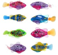 Wholesale Robo fish Water Activated Battery Powered RoboFish Toy Childen Kids Robotic Gift Bath Toys Electronic Fish T055