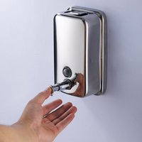 Wholesale 304 stainless steel Liquid Soap Dispenser Manual Three sizes are available Hotel bathroom kitchen wall mounted bottle shower