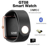 al por mayor caja al por menor reloj de la cámara-GT08 Smart Watch DZ09 Wristband Bluetooth Pulsera con Pedómetro Cámara de vigilancia Sleep Sedentary Recordatorio compatible Android Retail Box