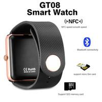 GT08 Smart Watch DZ09 Wristband Bluetooth Bracelet avec Podomètre Caméra Surveillance Sommeil Remerciement Sédentaire Compatible Android Retail Box