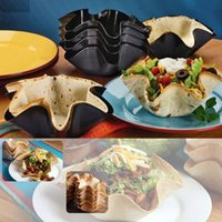 Wholesale Perfect Black Tortilla Baking Not Fried Mold Pan Great Non stick Taco Bowl Kitchen Cooking Tools